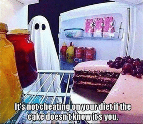 Cheating, Dank, and Cake: It Snot cheating onyour dietii the  cake doesnt its you.