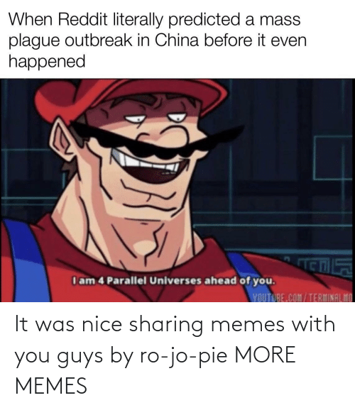 pie: It was nice sharing memes with you guys by ro-jo-pie MORE MEMES