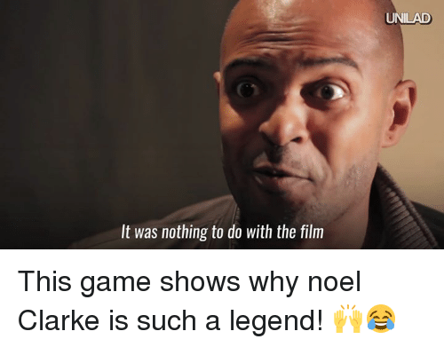 game shows: It was nothing to do with the film  UNILAD This game shows why noel Clarke is such a legend! 🙌😂