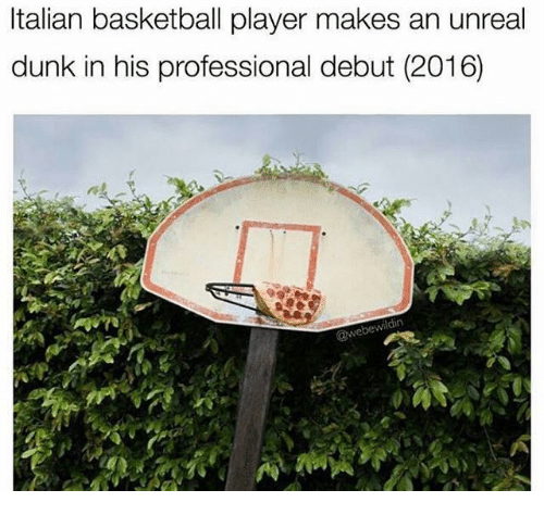 unreal: Italian basketball player makes an unreal  dunk in his professional debut (2016)  ldin