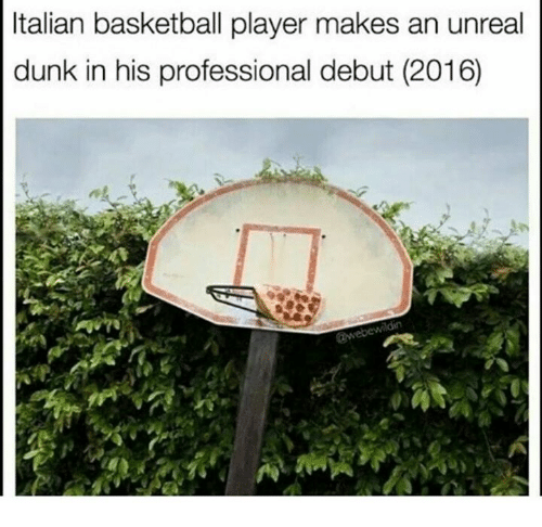 unreal: Italian basketball player makes an unreal  dunk in his professional debut (2016)