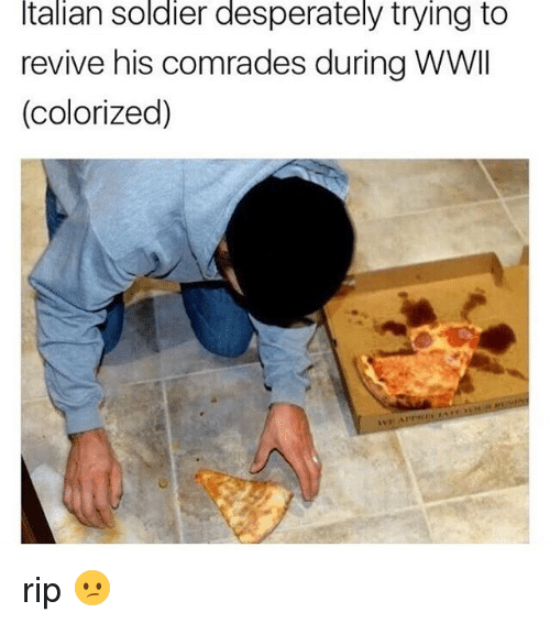 Italian Soldiers: Italian Soldier desperately trying to  revive his comrades during WWII  (colorized) rip 😕