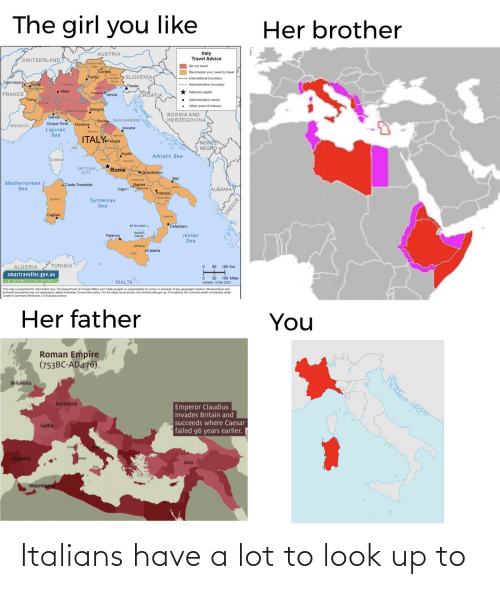 italians: Italians have a lot to look up to