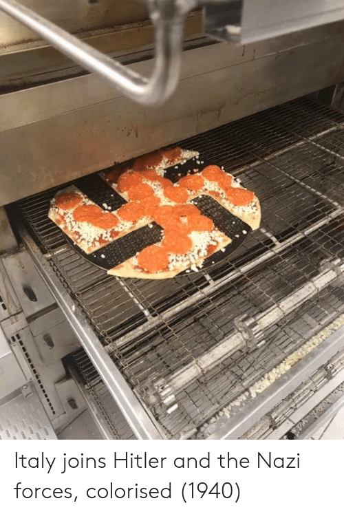 Colorised: Italy joins Hitler and the Nazi forces, colorised (1940)