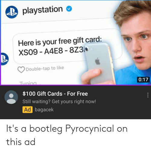 Pyrocynical: It's a bootleg Pyrocynical on this ad