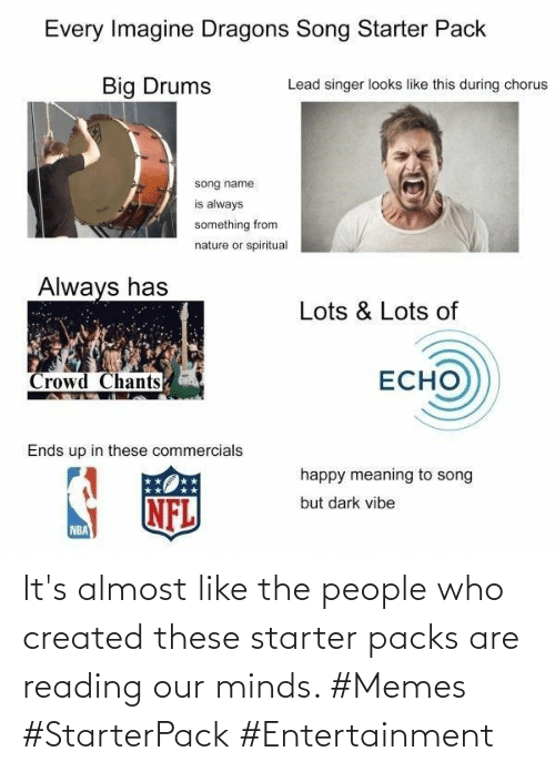Starter Packs: It's almost like the people who created these starter packs are reading our minds. #Memes #StarterPack #Entertainment