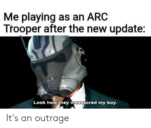 Outrage: It's an outrage