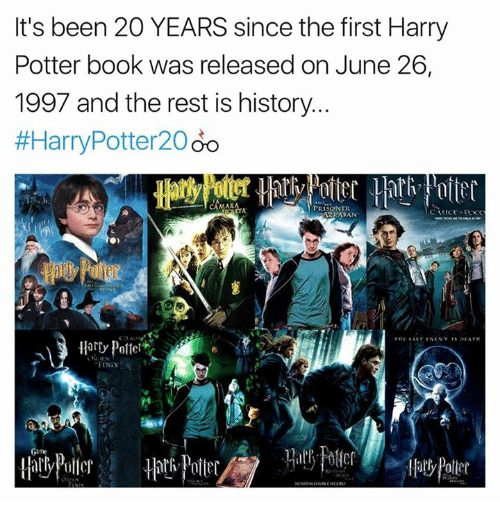 Harry Potter Book Year Released ~ It s been years since the first harry potter book was