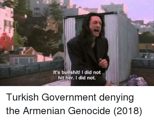 Armenian: It's bullshit! I did not  hit her. I did not. Turkish Government denying the Armenian Genocide (2018)