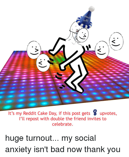 It's My Reddit Cake Day if This Post Gets Upvotes 'Ll ...