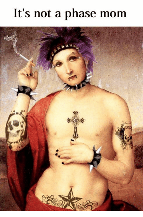 Classical Art, Mom, and Phase: It's not a phase mom