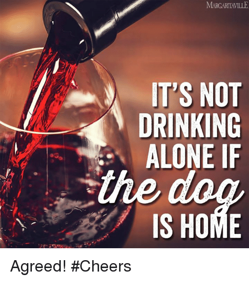 Drinking Alone: IT'S NOT  DRINKING  ALONE IF  IS HOME Agreed! #Cheers