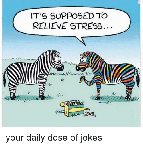 Dank, Jokes, and 🤖: IT'S SUPPOSED TO  RELIEVE STRESS.  Ne your daily dose of jokes