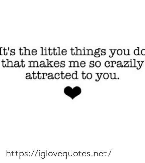 That Makes Me: It's the little things you dc  that makes me so crazily  attracted to you https://iglovequotes.net/