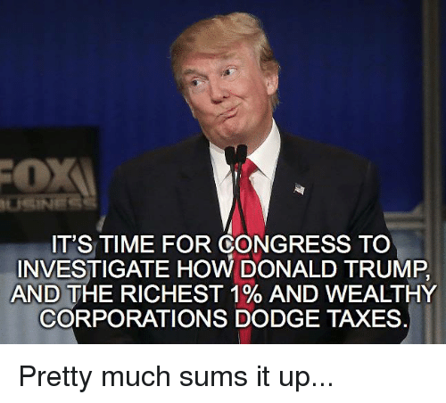 IT'S TIME FOR CONGRESS TO INVESTIGATE HOW DONALD TRUMP AND