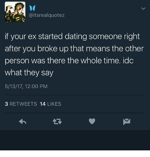 My ex started dating someone else right away