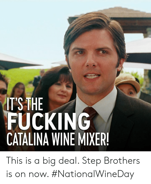 catalina wine mixer: ITSTHE  FUCKING  CATALINA WINE MIXER This is a big deal. Step Brothers is on now. #NationalWineDay