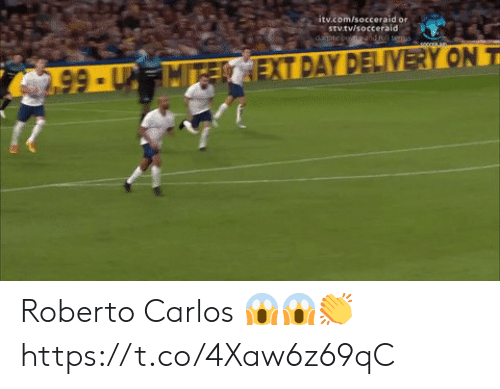 Roberto: itv.com/socceraid or  stv.tv/socceraid  dopte coendt teus  2.99-UMTECEXT DAY DELIVERY ON T Roberto Carlos 😱😱👏 https://t.co/4Xaw6z69qC