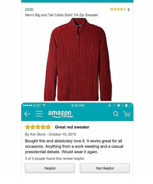 IZOD Men's Big and Tall Cable Solid 14 Zip Sweater AT&T 841 PM ...