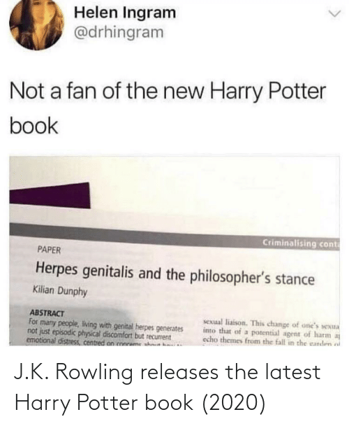 latest: J.K. Rowling releases the latest Harry Potter book (2020)