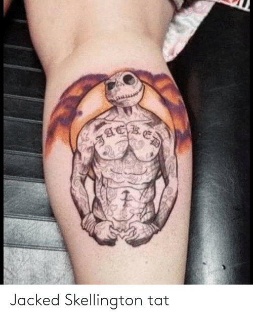 jacked: Jacked Skellington tat