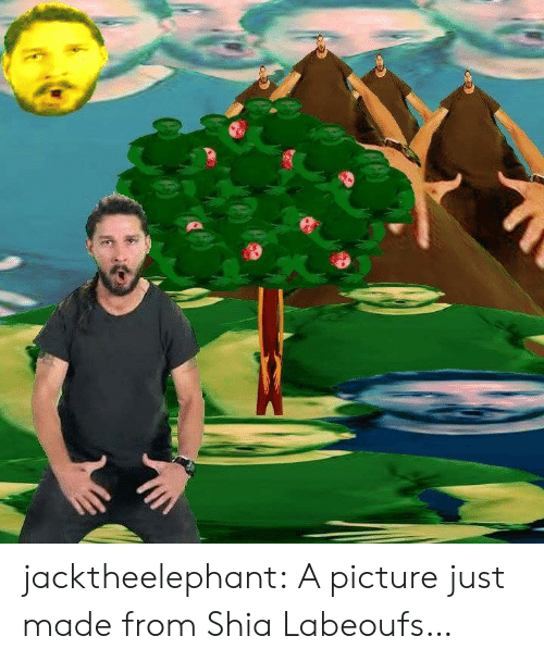 shia: jacktheelephant:  A picture just made from Shia Labeoufs…