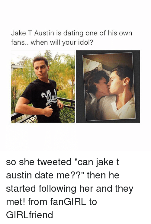 Jake t. austin dating a fan