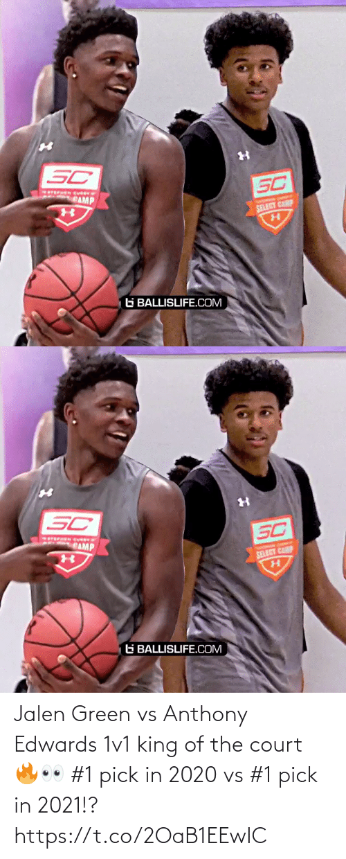 King Of: Jalen Green vs Anthony Edwards 1v1 king of the court 🔥👀 #1 pick in 2020 vs #1 pick in 2021!? https://t.co/2OaB1EEwIC