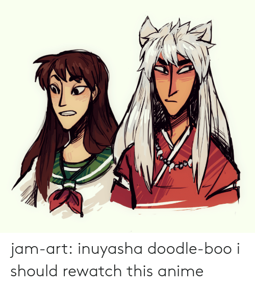 Anime, Boo, and Target: jam-art: inuyasha doodle-boo i should rewatch this anime