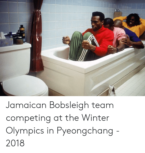 winter olympics: Jamaican Bobsleigh team competing at the Winter Olympics in Pyeongchang - 2018