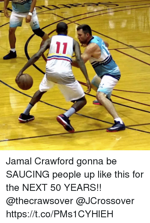 Memes, 🤖, and Next: Jamal Crawford gonna be SAUCING people up like this for the NEXT 50 YEARS!! @thecrawsover @JCrossover https://t.co/PMs1CYHlEH