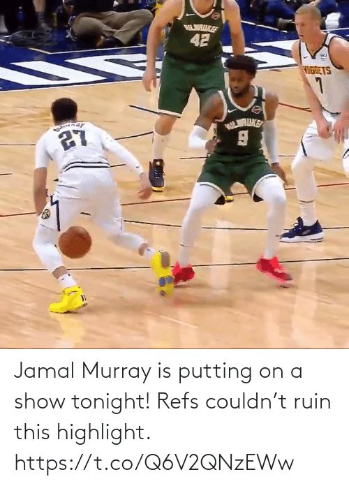 jamal: Jamal Murray is putting on a show tonight! Refs couldn't ruin this highlight.  https://t.co/Q6V2QNzEWw