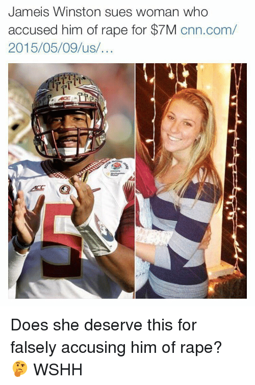 jameis winston: Jameis Winston sues woman who  accused him of rape for $7M  cnn.com/  2015/05/09 us Does she deserve this for falsely accusing him of rape? 🤔 WSHH
