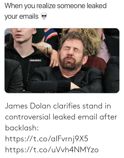 stand: James Dolan clarifies stand in controversial leaked email after backlash: https://t.co/aIFvrnj9X5 https://t.co/uVvh4NMYzo