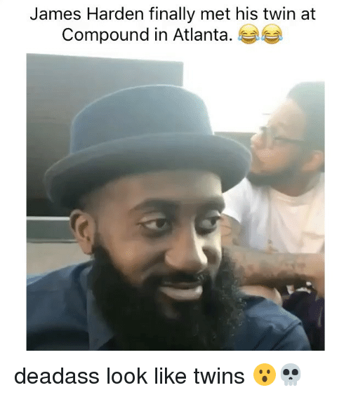 Funny, James Harden, and Memes: James Harden finally met his twin at  Compound in Atlanta deadass look like twins 😮💀