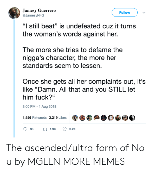 """Guerrero: Jamesy Guerrero  Follow  @JamesyNFG  """"