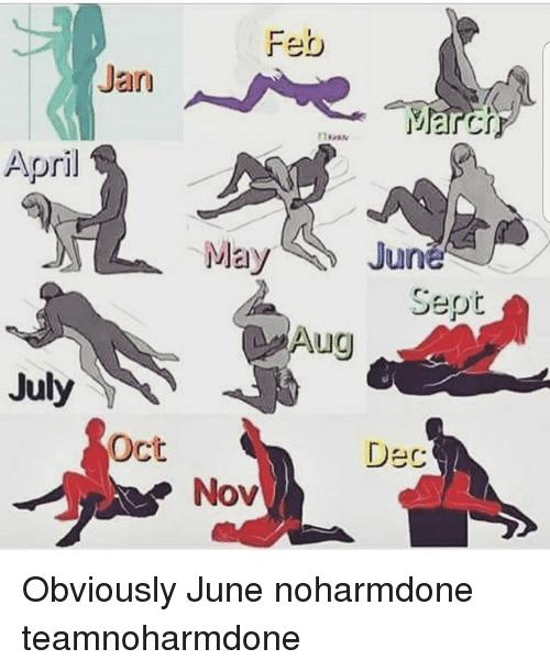 Memes, April, and Sept: Jan  CI  April  May  June  Sept  Aug  July  Oct  Dec  Nov Obviously June noharmdone teamnoharmdone