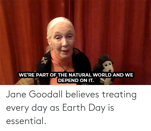 Jane: Jane Goodall believes treating every day as Earth Day is essential.