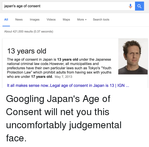 Legal age for consensual sex