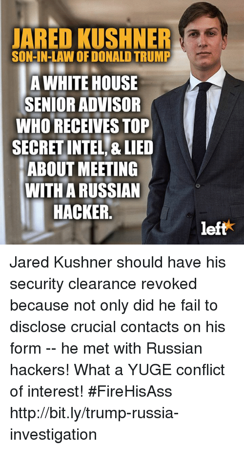 JARED KUSHNER SON-IN-LAW OF DONALD TRUMP a WHITE HOUSE ...