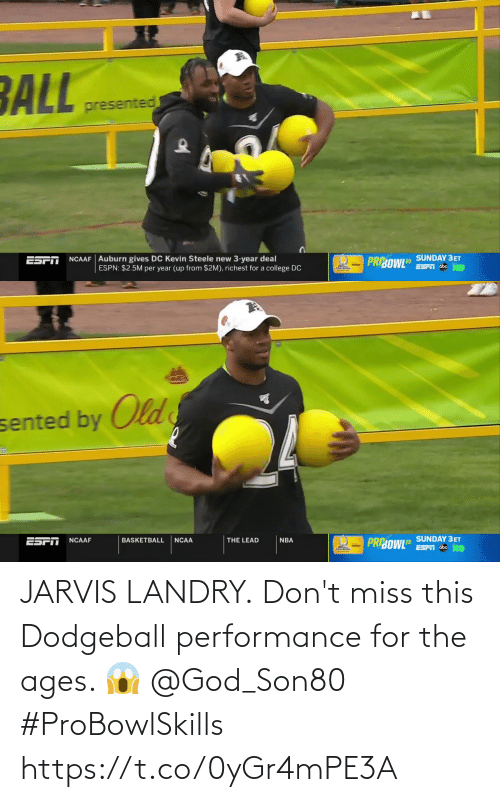 Dodgeball: JARVIS LANDRY.  Don't miss this Dodgeball performance for the ages. 😱 @God_Son80  #ProBowlSkills https://t.co/0yGr4mPE3A