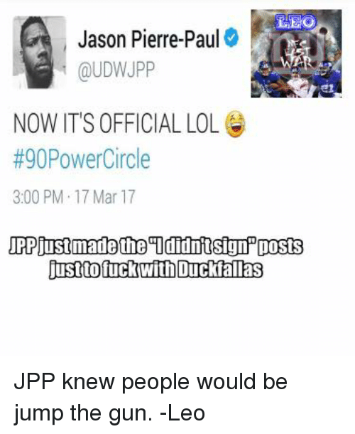 Jason Pierre Paul Udwjpp: Jason Pierre-Paul NOW ITS OFFICIAL LOL G #90PowerCircle