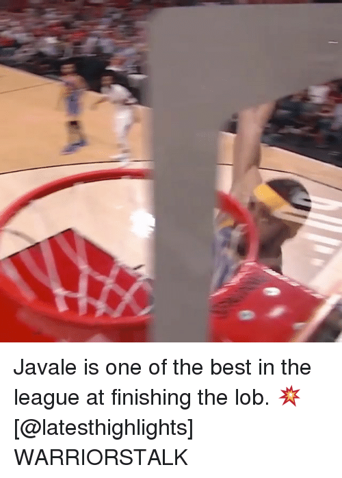 Basketball, Golden State Warriors, and Sports: Javale is one of the best in the league at finishing the lob. 💥 [@latesthighlights] WARRIORSTALK
