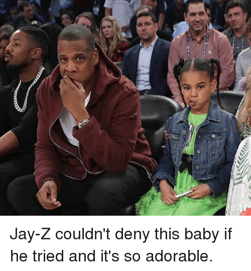 Funny, Jay, and Jay Z: Jay-Z couldn't deny this baby if he tried and it's so adorable.