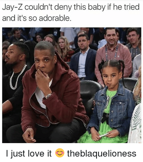 Jay, Jay Z, and Love: Jay-Z couldn't deny this baby if he tried  and it's so adorable. I just love it 😊 theblaquelioness