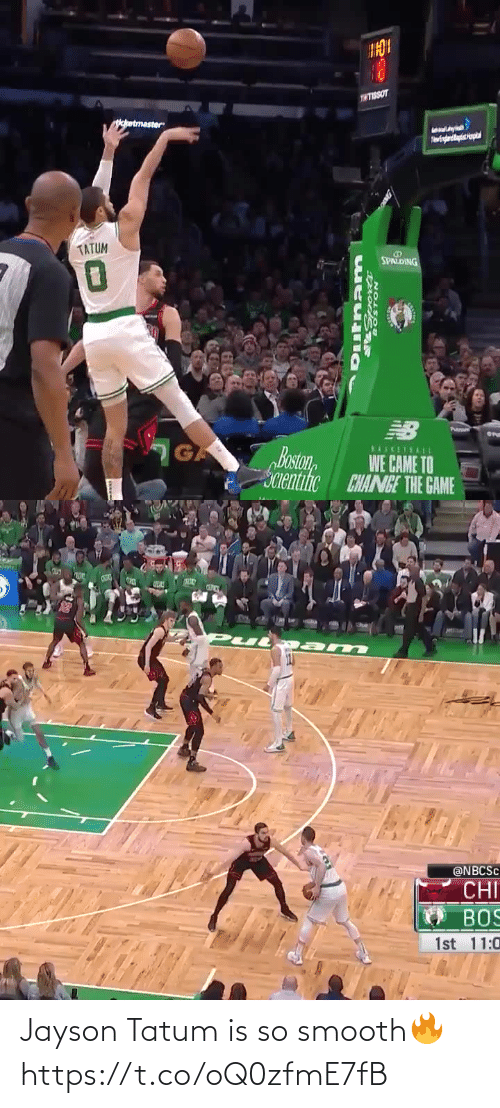 Smooth: Jayson Tatum is so smooth🔥 https://t.co/oQ0zfmE7fB
