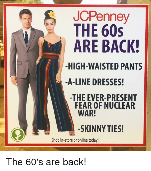 JCPenney THE 60s ARE BAC! -HIGH-WAISTED PANTS -A-Line
