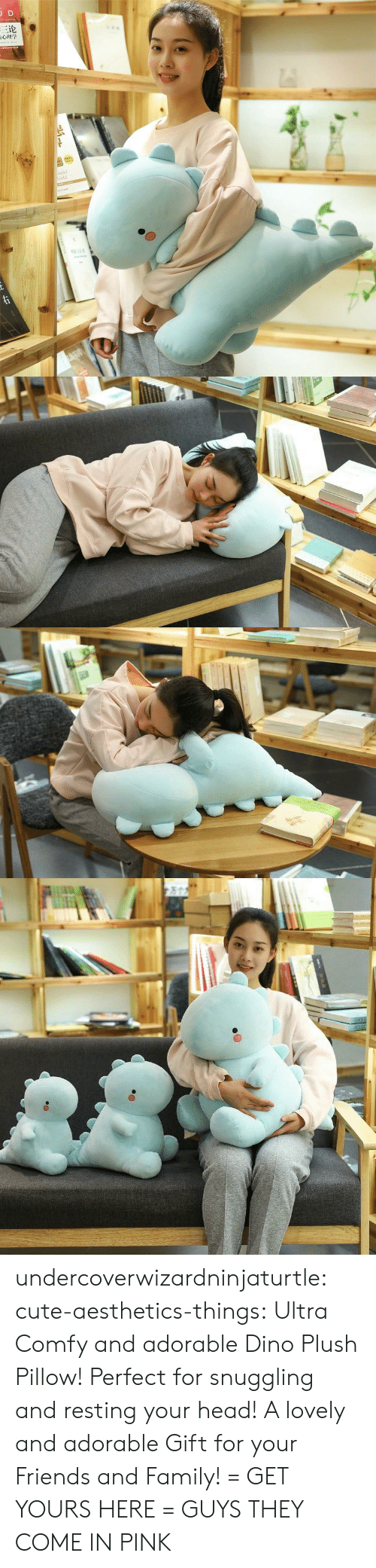 Resting: JD  三论  laint  orld  TNAR  ww.e undercoverwizardninjaturtle: cute-aesthetics-things:   Ultra Comfy and adorable Dino Plush Pillow! Perfect for snuggling and resting your head! A lovely and adorable Gift for your Friends and Family! = GET YOURS HERE =   GUYS THEY COME IN PINK