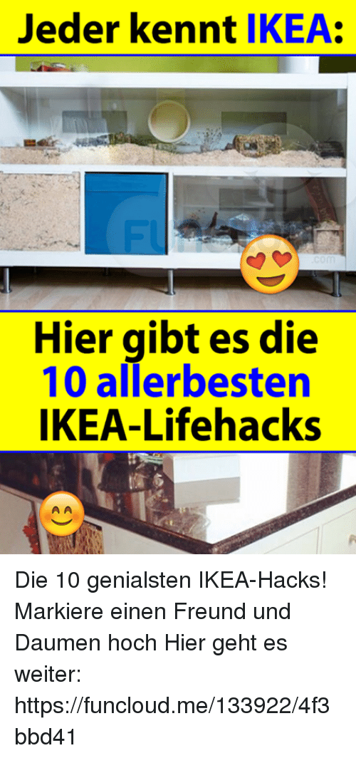 jeder kennt ikea hier gibt es die 10 allerbesten ikea lifehacks die 10 genialsten ikea hacks. Black Bedroom Furniture Sets. Home Design Ideas