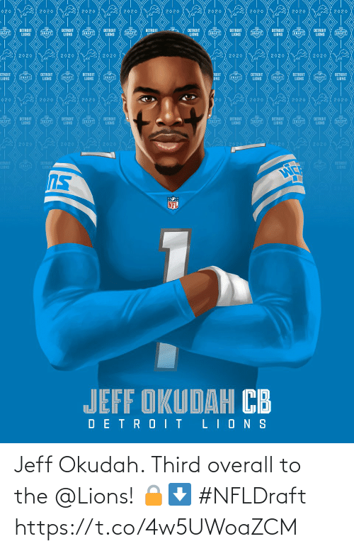 Lions: Jeff Okudah. Third overall to the @Lions! 🔒⬇️ #NFLDraft https://t.co/4w5UWoaZCM